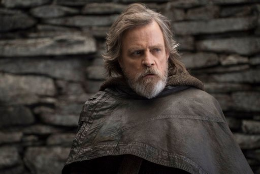 "(John Wilson/Lucasfilm via AP, File). FILE - This file image released by Lucasfilm shows Mark Hamill as Luke Skywalker in ""Star Wars: The Last Jedi."" On the last day of the calendar year, ""Star Wars: The Last Jedi"" has surpassed ""Beauty and the Beast"" ..."