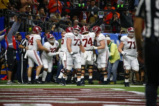 (AP Photo/Butch Dill). in the second half of the Sugar Bowl semi-final playoff game for the NCAA college football national championship, in New Orleans, Monday, Jan. 1, 2018.