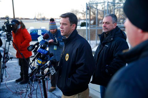 (Thomas P. Costell/The Asbury Park Press via AP). Monmouth County Prosecutor Christopher Gramiccioni speaks a news conference about the deaths of several people in Long Branch, N.J., Monday, Jan. 1, 2018. A 16-year-old has been arrested after his paren...