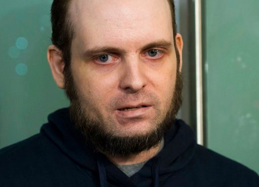 (Nathan Denette/The Canadian Press via AP). In this Oct. 31, 2017, file photo, Joshua Boyle speaks to the media after arriving at the Pearson International Airport in Toronto.