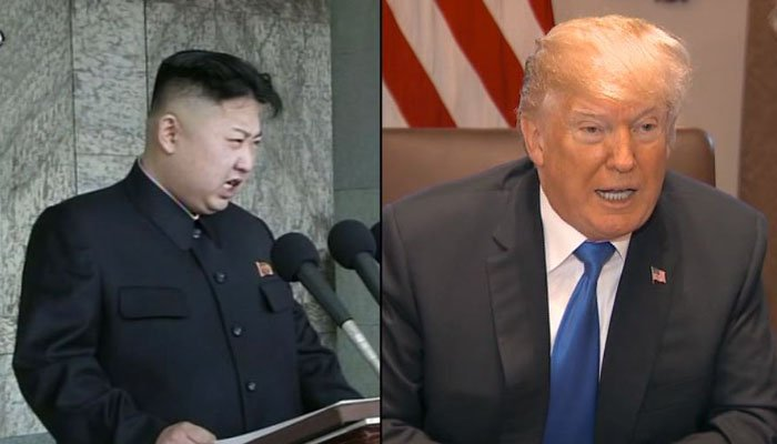 This combined image shows North Korean leader Kim Jong Un and US President Donald Trump. (Source: CNN/Korean Central TV/Pool)