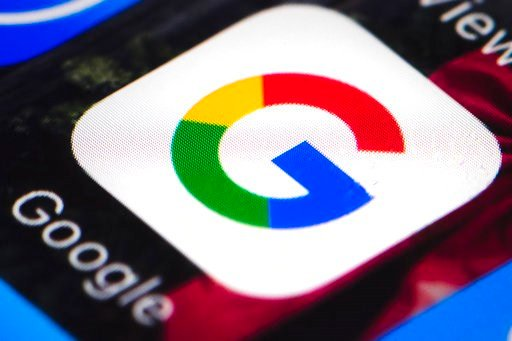 (AP Photo/Matt Rourke, File). FILE - This April 26, 2017 file photo shows the Google mobile phone icon, in Philadelphia.  A revised gender pay lawsuit seeking class action status against Google faults the search giant's practice of asking new hires abo...