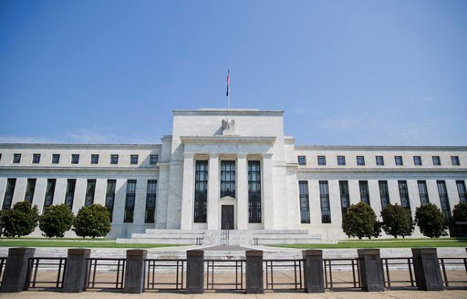 (AP Photo/Pablo Martinez Monsivais, File). FILE - This Wednesday, Aug. 2, 2017, file photo shows the Federal Reserve Building on Constitution Avenue in Washington. The Federal Reserve releases minutes from its December meeting, on Wednesday, Jan. 3, 20...