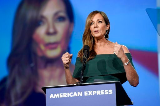"(Photo by Chris Pizzello/Invision/AP). Allison Janney accepts the spotlight award- actress for ""I, Tonya"" at the 29th annual Palm Springs International Film Festival on Tuesday, Jan. 2, 2018, in Palm Springs, Calif."