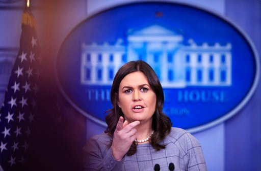 (AP Photo/Manuel Balce Ceneta). White House press secretary Sarah Huckabee Sanders speaks during the daily press briefing in the Brady press briefing room at the White House, in Washington, Wednesday, Jan. 3, 2018.