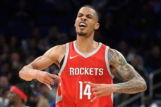 (AP Photo/Phelan M. Ebenhack). Houston Rockets guard Gerald Green (14) celebrates after scoring a 3-point basket during the second half of an NBA basketball game against the Orlando Magic, Wednesday, Jan. 3, 2018, in Orlando, Fla. The Rockets won 116-98.