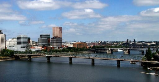(AP Photo/Don Ryan, File). FILE - In this Aug. 1, 2012 file photo, the downtown skyline is shown on the west bank of the Willamette River in Portland, Ore. Oregon is suing the agrochemical giant Monsanto over PCB pollution that it says has contaminated...