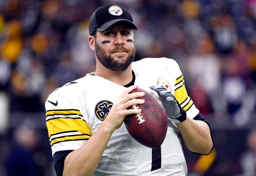 (AP Photo/Eric Christian Smith, File). FILE - In this Monday, Dec. 25, 2017, file photo, Pittsburgh Steelers quarterback Ben Roethlisberger warms up before an NFL football game against the Houston Texans, in Houston. The Steelers averaged 29.9 points a...