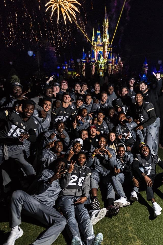 Unbeaten UCF celebrated its self-proclaimed national championship with a parade at Disney World on the eve of the College Football Playoff final. (Source: Central Florida Athletics)