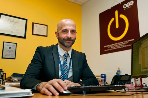 (AP Photo/Seth Wenig). New York City Deputy Health Commissioner Demetre Daskalakis poses for a picture in his office in New York, on Wednesday, Dec. 20, 2017. In New York, roughly 30 percent of gay and bisexual men are using Truvada now, up dramaticall...