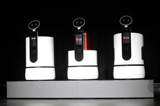 (AP Photo/Jae C. Hong). LG's new concept robots are introduced during a news conference at CES International, Monday, Jan. 8, 2018, in Las Vegas.