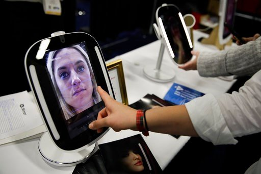 (AP Photo/Jae C. Hong). The HiMirror Mini, an internet-connected smart mirror with Amazon's Alexa, is displayed during CES Unveiled at CES International Sunday, Jan. 7, 2018, in Las Vegas.