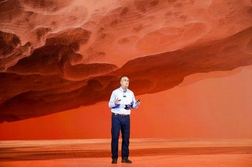 (AP Photo/Jae C. Hong). Intel CEO Brian Krzanich delivers a keynote speech at CES International Monday, Jan. 8, 2018, in Las Vegas.