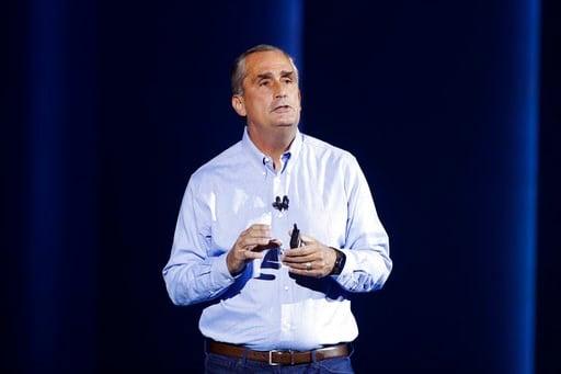 (AP Photo/Jae C. Hong). Intel CEO Brian Krzanich delivers a keynote speech at CES International on Monday, Jan. 8, 2018, in Las Vegas.