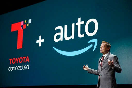 (AP Photo/Jae C. Hong). Zack Hicks, CEO of Toyota Connected, talks about Amazon's Alexa voice assistant during a news conference at CES International, Tuesday, Jan. 9, 2018, in Las Vegas.
