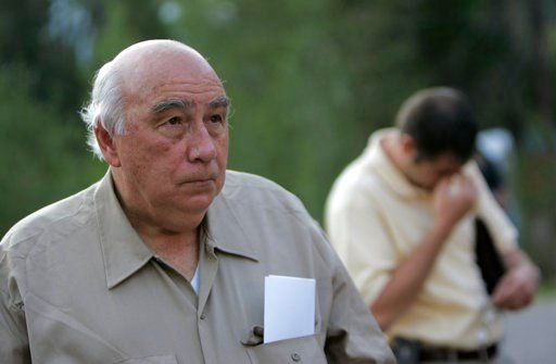 "(AP Photo/Jae C. Hong, File). FILE - In this Aug. 20, 2007 file photo, Robert ""Bob"" Murray, founder and chairman of Cleveland-based Murray Energy Corp., arrives at a news conference at the entrance to the Crandall Canyon Mine, in northwest of Huntingto..."