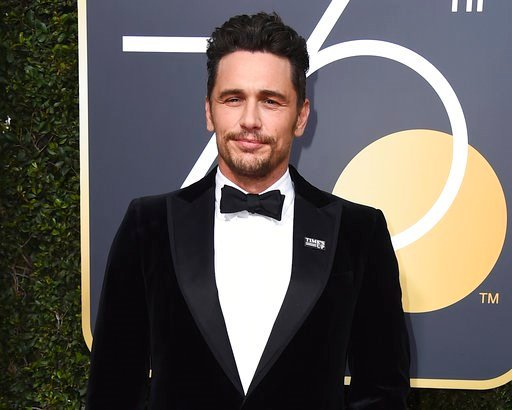 (Photo by Jordan Strauss/Invision/AP, File). FILE - In this Jan. 7, 2018 file photo, James Franco arrives at the 75th annual Golden Globe Awards in Beverly Hills, Calif. Facing accusations by an actress and a filmmaker over alleged sexual misconduct, J...