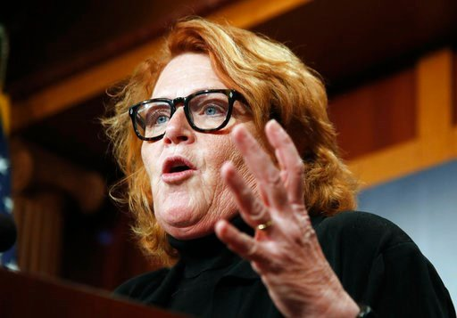 (AP Photo/Manuel Balce Ceneta, File). FILE - In this March 14, 2017, file photo, U.S. Sen. Heidi Heitkamp, D-N.D., speaks during a news conference on Capitol Hill in Washington. On Thursday, Jan. 11, 2018, North Dakota state Rep. Kevin Kramer said he w...