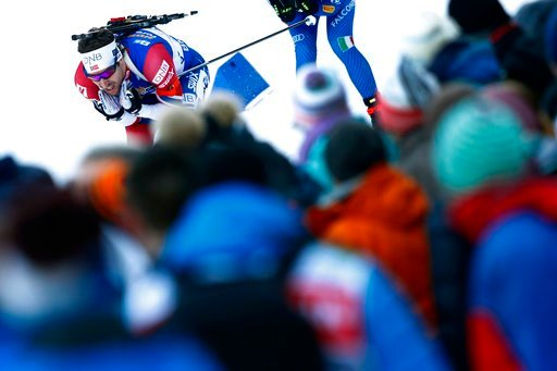 (AP Photo/Matthias Schrader). Emil Hegle Svendsen of Norway competes during the men's 4x7.5km relay competition at the biathlon World Cup in Ruhpolding, Germany, Friday, Jan. 12, 2018.