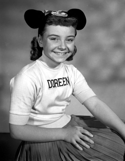 """(Disney via AP). This undated photo released by Disney, shows Disney Mouseketeer Doreen Tracey. Tracey, a former child star who played one of the original cute-as-a-button Mouseketeers on """"The Mickey Mouse Club"""" in the 1950s, died from pneumonia on Wed..."""