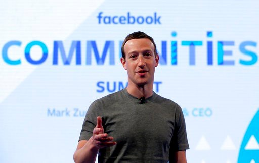 (AP Photo/Nam Y. Huh, File). FILE - In this Wednesday, June 21, 2017, file photo, Facebook CEO Mark Zuckerberg speaks as he prepares for the Facebook Communities Summit in Chicago. Facebook is once again tweaking the formula it uses to decide what peop...