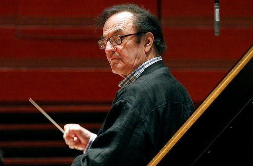 (AP Photo/Alex Brandon, File). FILE - In this Oct. 19, 2011 file photo, chief conductor Charles Dutoit rehearses with the Philadelphia Orchestra in Philadelphia. Six more women have stepped forward to accuse the prominent conductor of sexually assaulti...