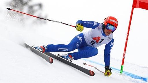 (AP Photo/Marco Trovati). Italy's Federica Brignone speeds down the course during an alpine ski, women's World Cup super-G, in Bad Kleinkirchheim, Austria, Saturday, Jan. 13, 2018.