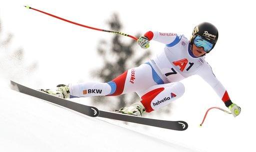 (AP Photo/Marco Trovati). Switzerland's Lara Gut speeds down the course during an alpine ski, women's World Cup super-G, in Bad Kleinkirchheim, Austria, Saturday, Jan. 13, 2018.