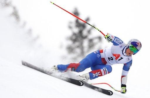 (AP Photo/Marco Trovati). United States' Lindsey Vonn speeds down the course during an alpine ski, women's World Cup super-G, in Bad Kleinkirchheim, Austria, Saturday, Jan. 13, 2018.