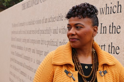 (AP Photo/Robert Ray). Bernice King, the daughter of the Rev. Martin Luther King, Jr., is seen outside of The Martin Luther King Jr. Center for Nonviolent Social Change in Atlanta on Wed., Jan. 10, 2018.