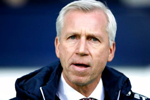 (Nick Potts/PA via AP). West Bromwich Albion manager Alan Pardew before the English Premier League soccer match against Brighton at The Hawthorns, West Bromwich, England, Saturday Jan. 13, 2018.