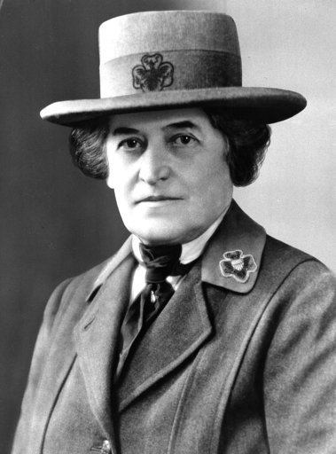 (AP Photo, File). Juliette Gordon Low of Savannah, Ga., is shown in this undated photo. Low founded the U.S. Girl Scout movement in 1912.   Lawmakers can expect face-to-face meetings with Girl Scouts from across Georgia Feb. 2018,  at the state Capitol...