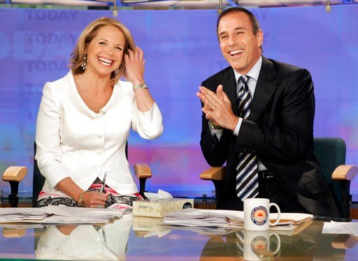 "(AP Photo/Richard Drew, File). FILE - In this May 31, 2006 file photo, Katie Couric and Matt Lauer, co-hosts of the NBC Today"" program, open her farewell broadcast in New York.  Couric told People in a story published Saturday, Jan. 13, 2018: ""I had no..."