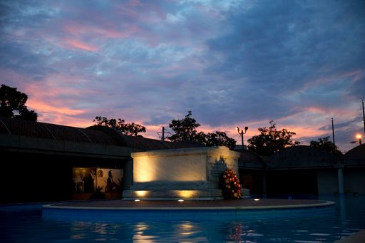 (AP Photo/Branden Camp, File). FILE- In this Monday, Jan. 16, 2017, file photo, the tomb of Martin Luther King Jr., and his wife Coretta Scott King is seen as the sun sets, in Atlanta. The site is among about 130 locations in 14 states being promoted a...