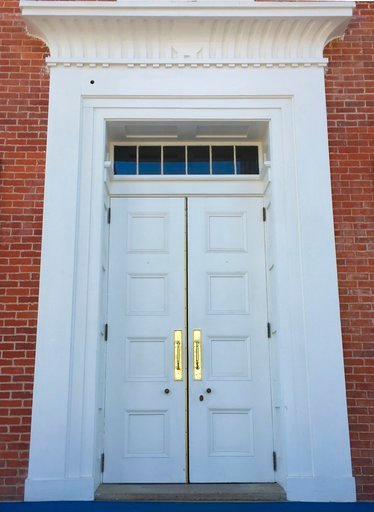 (AP Photo/Beth J. Harpaz, File). FILE- In this March 12, 2017 file photo the doors of the Lyceum, a building on the University of Mississippi campus in Oxford, Miss. The site is among about 130 locations in 14 states being promoted as part of the new U...