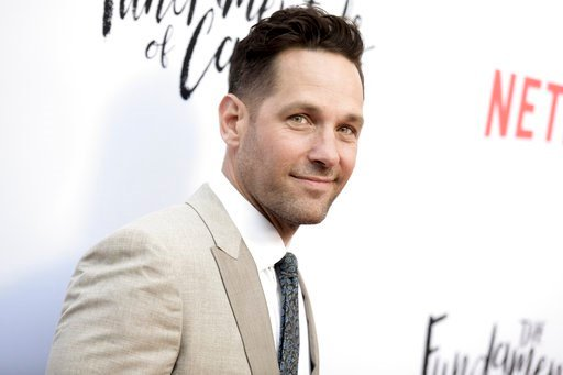 """(Photo by Richard Shotwell/Invision/AP, File). FILE - In this June 23, 2016 file photo, Paul Rudd attends a special screening of """"The Fundamentals of Caring"""" held at Arclight Cinemas Hollywood in Los Angeles. Actor and screenwriter Rudd will be subject..."""
