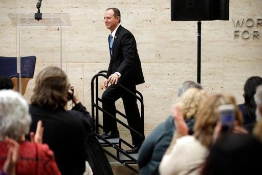 (AP Photo/Matt Rourke). Rep. Adam Schiff, D- Calif., ranking member of the House Intelligence Committee, arrives to speak at the University of Pennsylvania in Philadelphia, Thursday, Feb. 1, 2018.