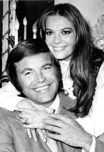 "(AP File Photo). FILE - In this April 23, 1972 file photo, actor Robert Wagner and his former wife, actress Natalie Wood, pose at the Dorchester Hotel in London, England. Investigators are now calling Wagner a ""person of interest"" in the 1981 death of ..."