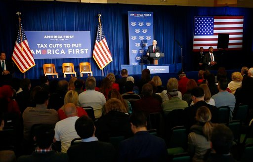 (AP Photo/Keith Srakocic). Vice President Mike Pence speaks at an America First Policies event, Friday, Feb. 2, 2018, in Pittsburgh.