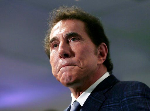 (AP Photo/Charles Krupa, File). FILE - This March 15, 2016, file photo, shows casino mogul Steve Wynn at a news conference in Medford, Mass. The University of Pennsylvania has announced plans to distance itself from casino mogul Wynn and comedian Bill ...