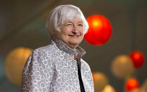(AP Photo/Michael Dwyer, File). FILE - In this Friday, May 5, 2017, file photo, Federal Reserve Chair Janet Yellen smiles before giving a speech during a conference at Brown University in Providence, R.I. Yellen's last day at the Fed is Friday, Feb. 2,...