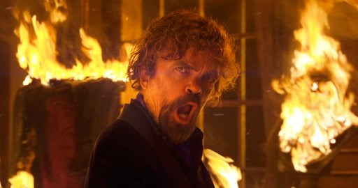 (PepsiCo via AP). This photo provided by PepsiCo shows Peter Dinklage in a scene from the company's Doritos Blaze Super Bowl spot. For the 2018 Super Bowl, marketers are paying more than $5 million per 30-second spot to capture the attention of more th...