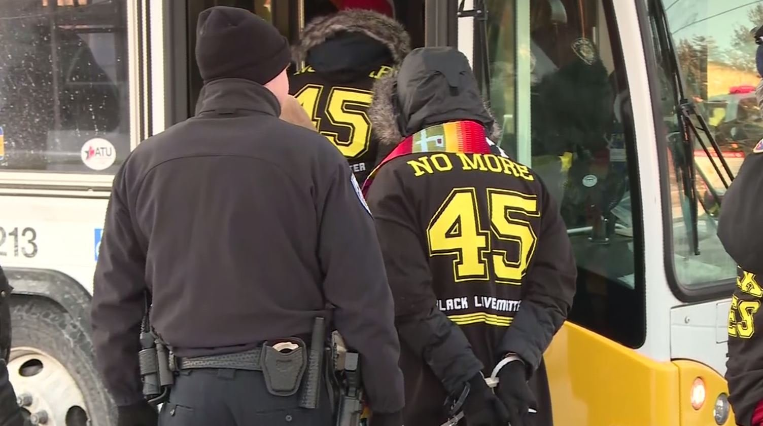 Several people were arrested at the West Bank rail station not far from downtown Minneapolis, Minnesota, Sunday afternoon. An officer said there were 17 arrests and that the protesters were part of Black Lives Matter. (Source: CNN)