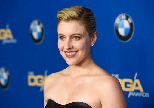 (Photo by Chris Pizzello/Invision/AP). Greta Gerwig arrives at the 70th annual Directors Guild of America Awards at The Beverly Hilton hotel on Saturday, Feb. 3, 2018, in Beverly Hills, Calif.