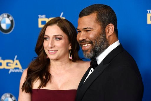 (Photo by Chris Pizzello/Invision/AP). Chelsea Peretti, left, and Jordan Peele arrive at the 70th annual Directors Guild of America Awards at The Beverly Hilton hotel on Saturday, Feb. 3, 2018, in Beverly Hills, Calif.