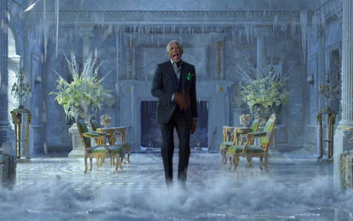 (PepsiCo via AP). This photo provided by PepsiCo shows Morgan Freeman in a scene from the company's Mountain Dew Ice Super Bowl spot. For the 2018 Super Bowl, marketers are paying more than $5 million per 30-second spot to capture the attention of more...