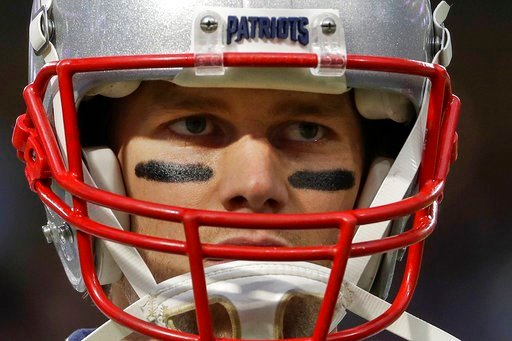(AP Photo/Matt Slocum). New England Patriots quarterback Tom Brady warms up before the NFL Super Bowl 52 football game against the Philadelphia Eagles Sunday, Feb. 4, 2018, in Minneapolis.