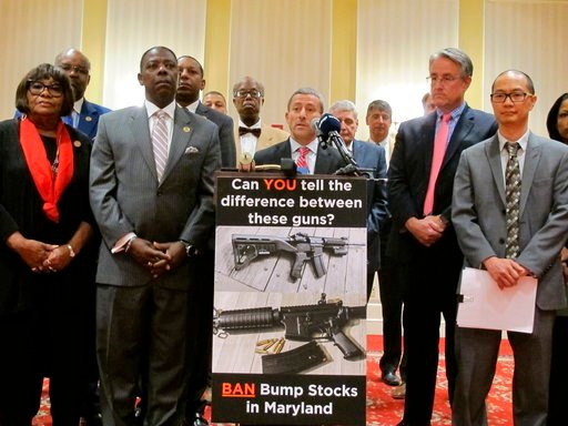 (AP Photo/Brian Witte, File). FILE - In this Feb. 1, 2018 file photo, Sen. Robert Zirkin, a Democrat, talks about measures aimed at protecting Maryland residents from gun violence during a news conference with Democrats in Annapolis, Md. Del. David Moo...