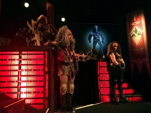 (AP Photo/David Keyton). In this photo taken in Stockholm on Saturday, Feb. 3 2018, 'Klingon ambassadors' hold a presentation of Klingon culture. A theater in Stockholm is playing host to a Klingon delegation seeking to promote tourism to Qo'nos (prono...