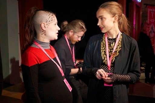 """(AP Photo/David Keyton). In this photo taken in Stockholm on Saturday, Feb. 3 2018, Snoret Linden is dressed as a Star Fleet officer from a species known as 'Trill' in the cult TV franchise """"Star Trek."""" A theater in Stockholm is playing host to a Kling..."""